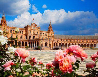 66166769 - seville sevilla plaza de espana in andalusia spain square